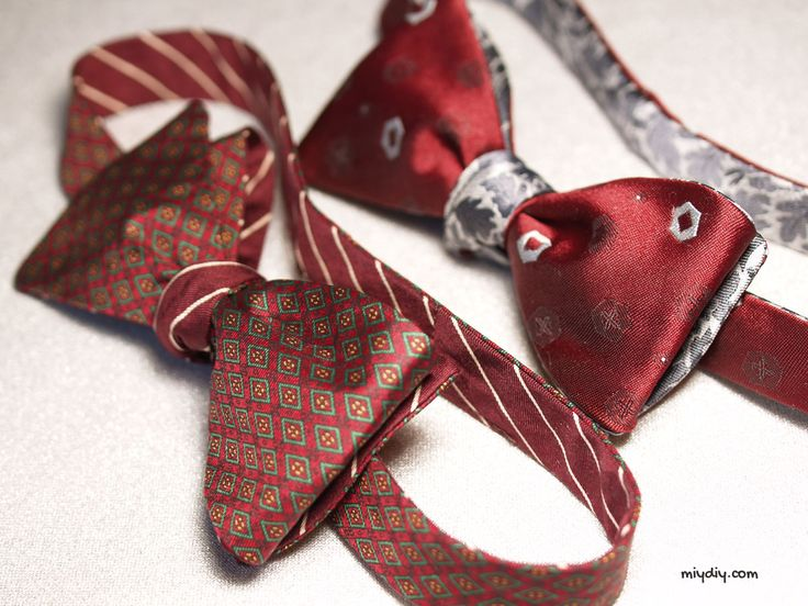 Learn how to make a man's bow tie from two conventional ties with our tutorial and link to a free pattern.