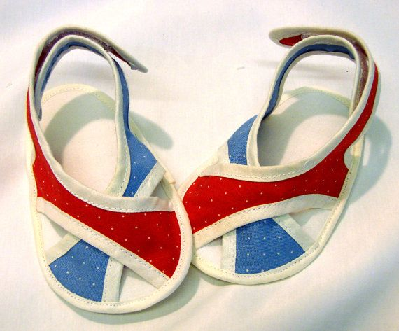 French Chic Baby Sandals  LenasShoePatterns: $4.50 for the PDF #Baby_Sandals #Sewing #LenasShoePatterns