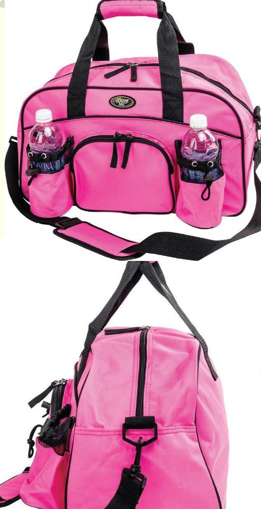 Womens Ladies Girls Pink Gym Yoga Exercise Workout Clothes Storage Travel Bag