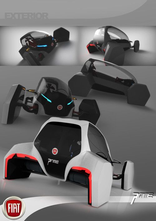 future transportation, 2025, Fiat prime, Sports Pod