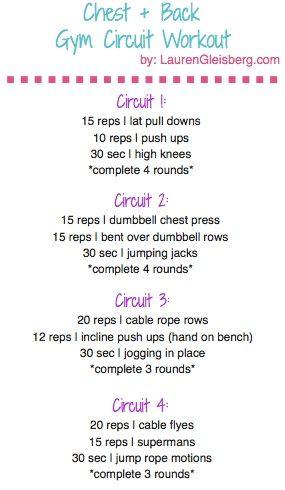Day 3: Chest & Back Gym Circuit Workout | #LGKickStartFit 2015 Health & Fitness Challenge by LaurenGleisberg.com