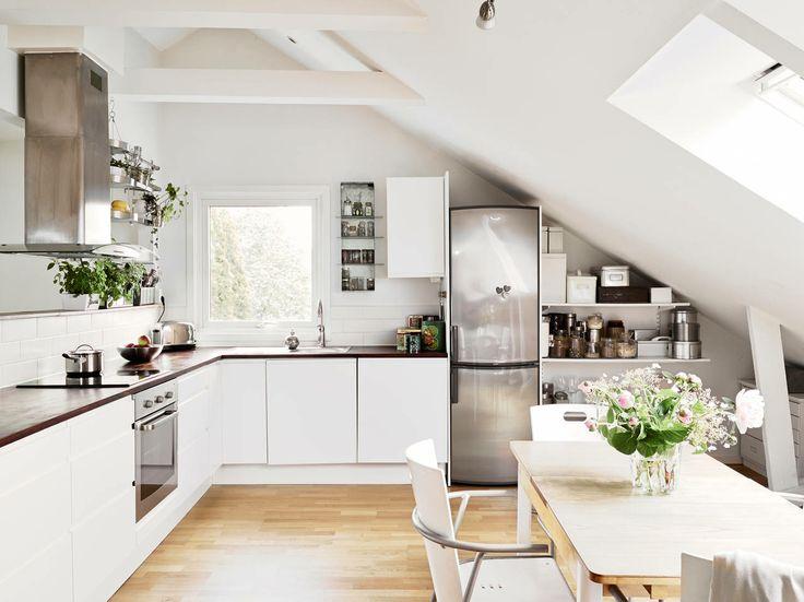 17 best kitchen inspiration images on Pinterest Kitchen, Kitchen - küche mit schräge