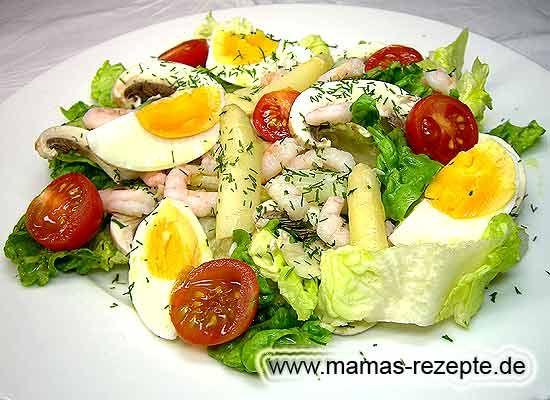 Rezept Garnelen - Spargelsalat auf Mamas Rezepte Homepage