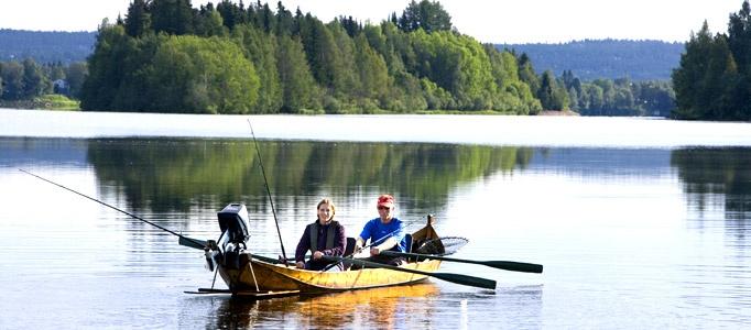 Fishing in never ending summerday photo © Rovaniemi Tourism & Marketing Ltd