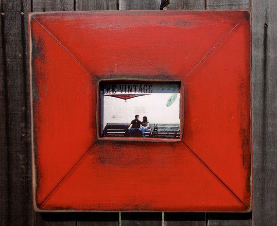 Barn Red 5 X 7 Distressed Frame Frames Pinterest Frame