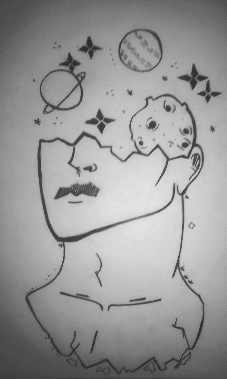 انا أحب رسمات الفضاء لهيك في كل رسمة أرسم كوكب وغيره أحس ...