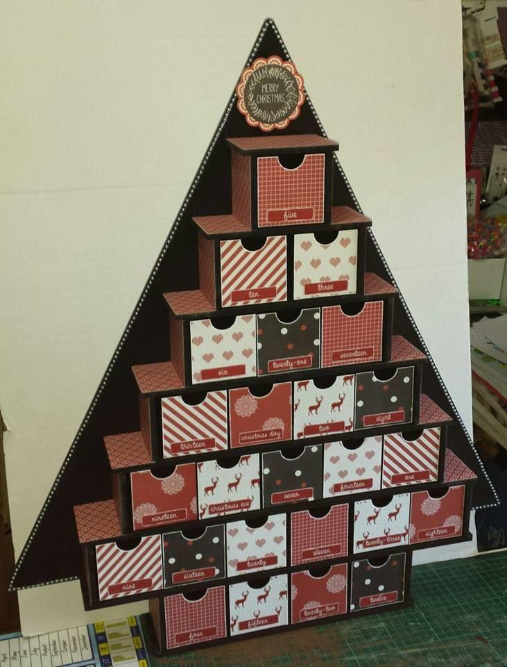 BTP Large Tree Advent Calendar - Kaisercraft North Pole collection ~Karyn Watton
