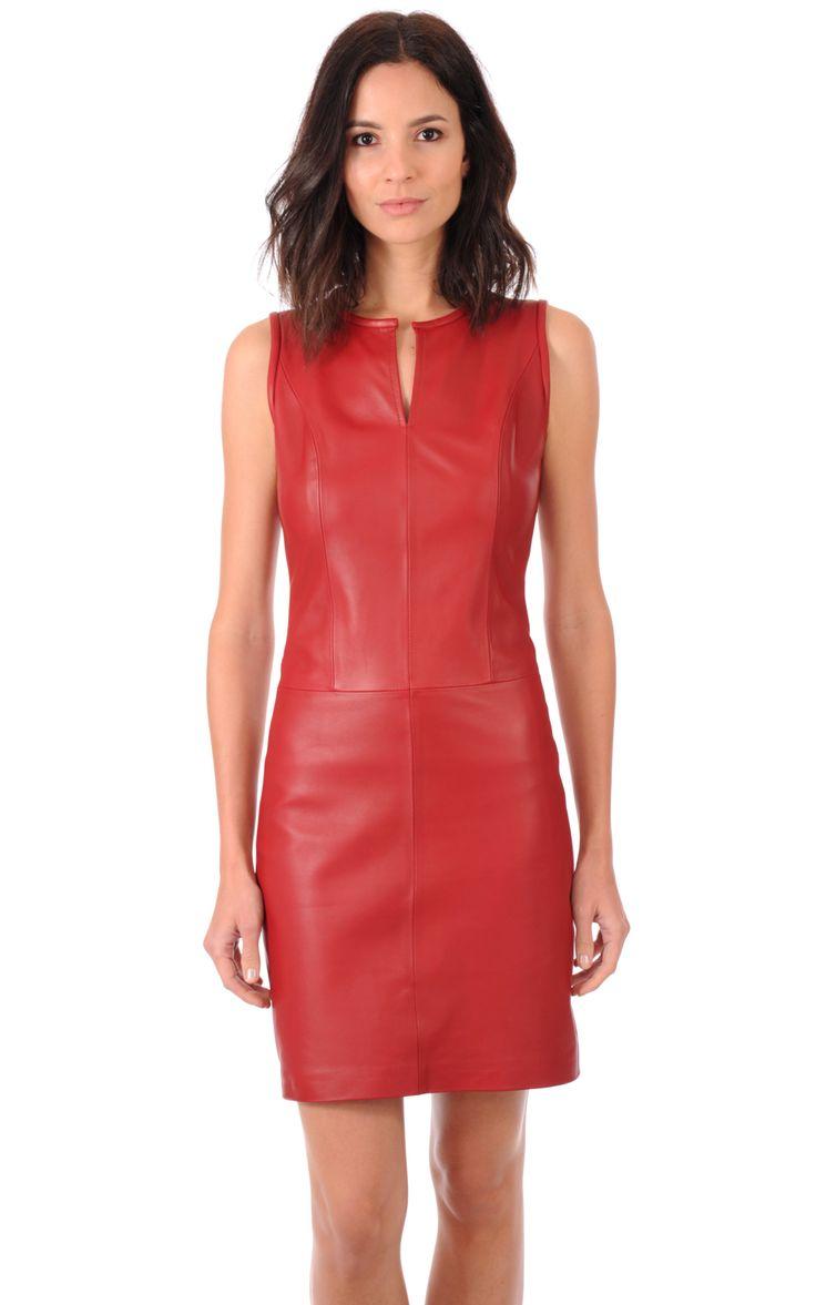 78 best ideas about robe cuir on pinterest tenue avec leggings noirs blouson cuir and pull - Tenue avec jupe en cuir ...