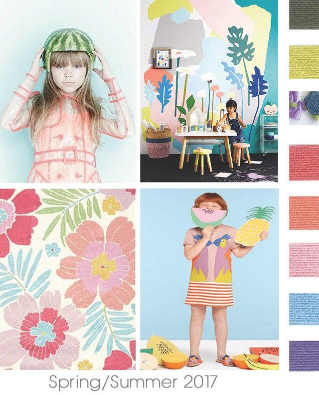 DesignOptions SS17 Color Report On WeConnectFashion Childrens Girls Mood Details Hot Tropics Playroom IdeasKid Playroom2017 Fashion