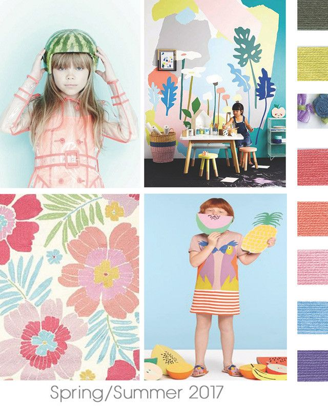 #DesignOptions SS17 color report on #WeConnectFashion, Children's Girls  mood details: Hot Tropics.