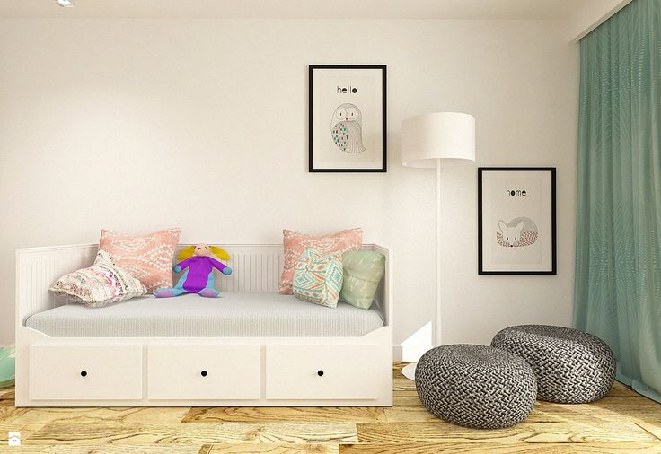 Pokój dla dziewczynki w apartamencie w Tomaszowie Mazowieckim - Pokój dziecka - Styl Nowoczesny - design me too