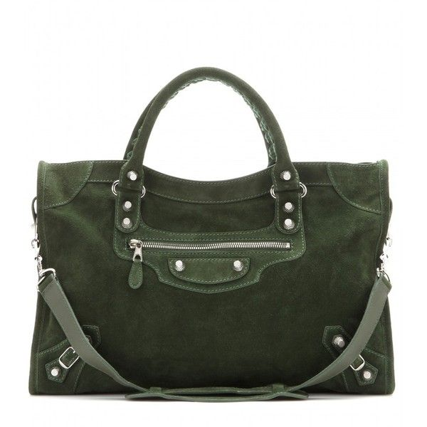 Balenciaga Giant 12 City Suede Tote found on Polyvore