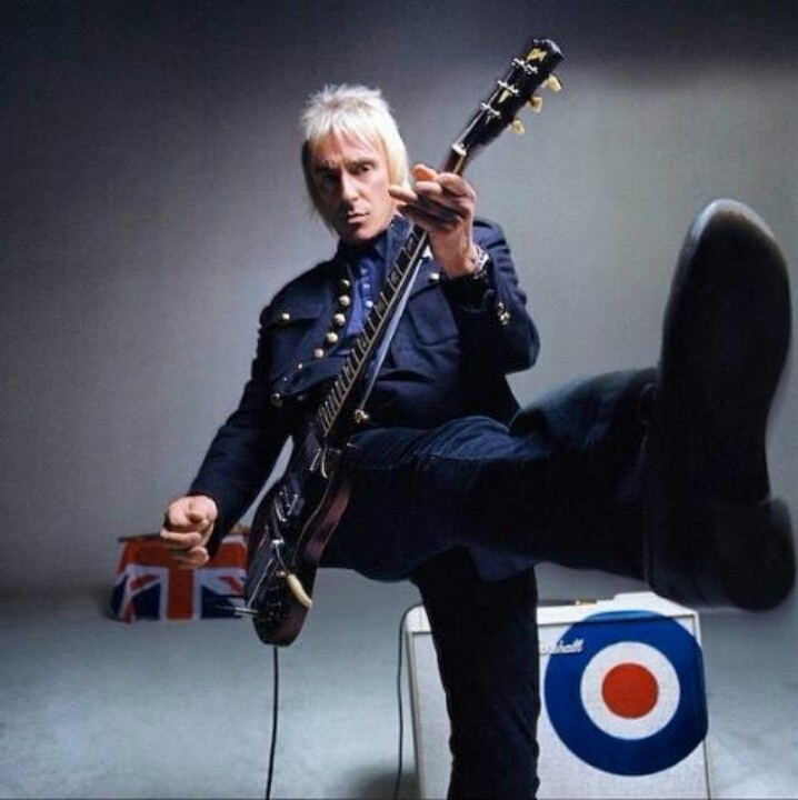 Paul Weller with his guitar