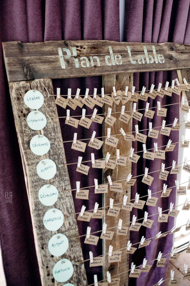 Plan de table original pour votre mariage. Original seating plan. #mariage #wedding
