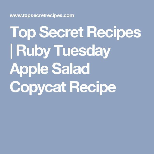 Top Secret Recipes   Ruby Tuesday Apple Salad Copycat Recipe