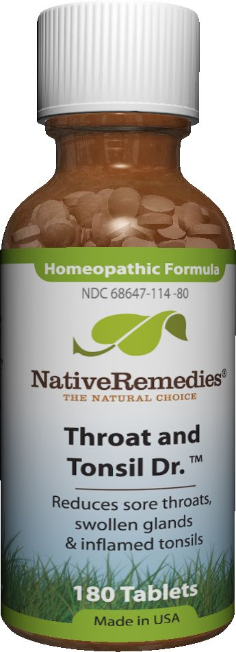 Throat and Tonsil Dr.™ - Homeopathic remedy to temporarily relieve throat irritation, promote tonsil health, and support immune functioning