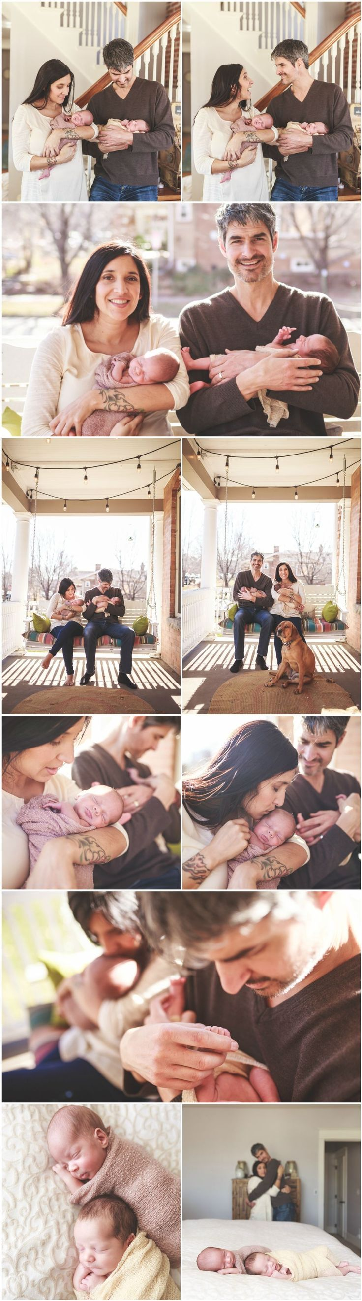 Cute Twin Newborn Photography Ideas and Inspiration | Newborn Poses | Denver Newborn Photographers | Newborn Baby Twins and Family Portraits #familyphotography #newbornphotography