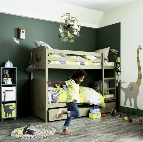 great colors! and you could remove the decal on the wall for when hes older