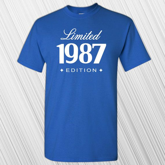 30th Birthday T-shirt  Gift For Him Her  1987 by MilwaukeeApparel