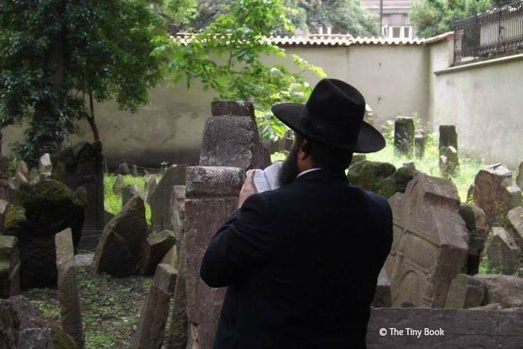 Pinkas Synagogue, Prague - Inside the Jewish cemetery.