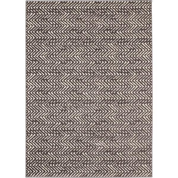Loft Modern Chevron Stripe Grey/ Cream Polypropylene Rug (7'10 x 10') - Overstock Shopping - Great Deals on 7x9 - 10x14 Rugs