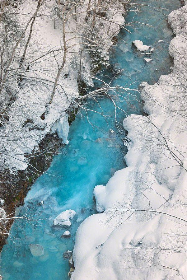 The Blue River, Biei, Hokkaido, Japan