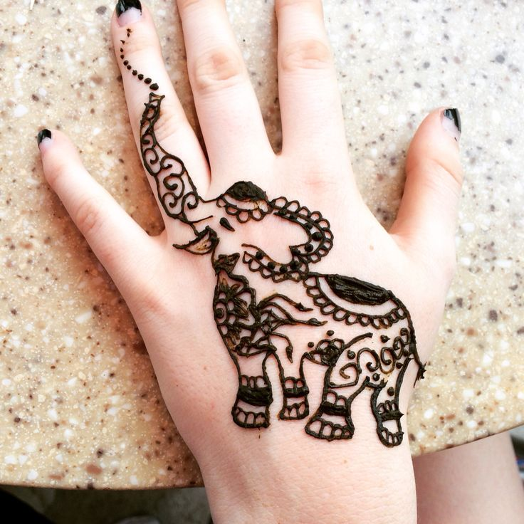 Elephant henna tattoo tumblr