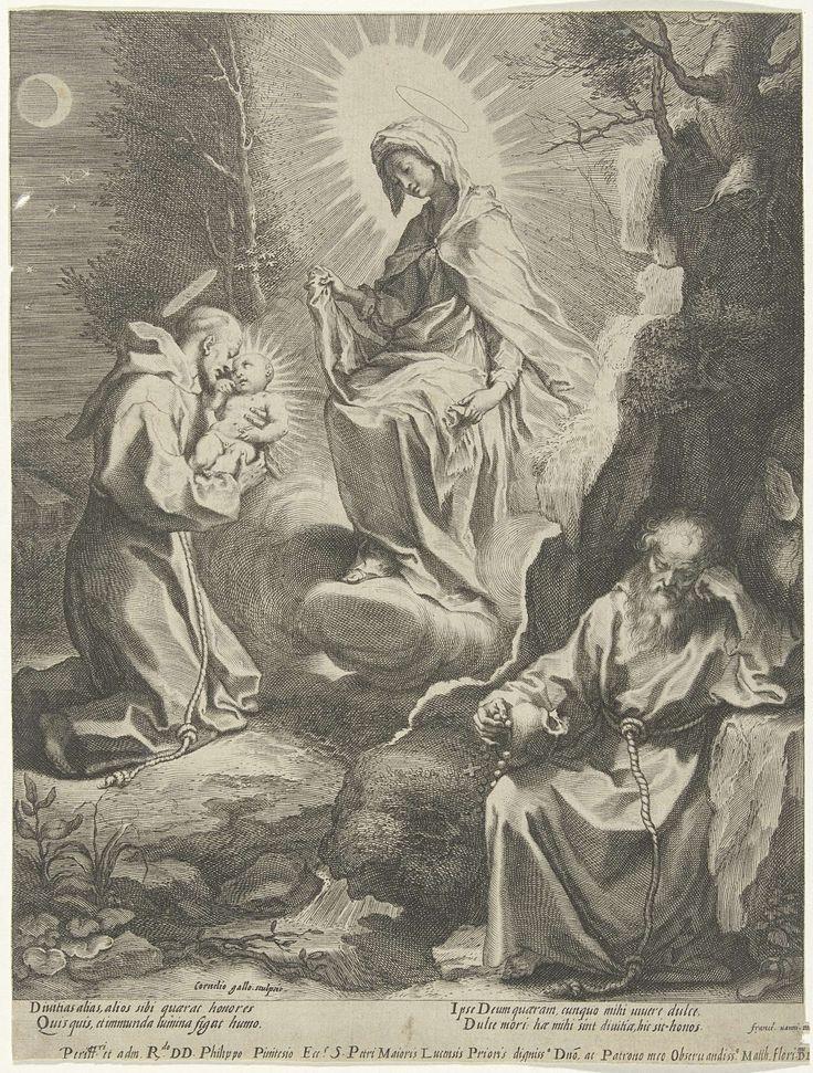 H. Franciscus van Assisi heeft een visioen van Maria en het Kind, Cornelis Galle (I), 1586 - voor 1633