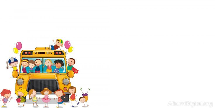 Fondo escolar Hofmann para album maxi niños en el bus