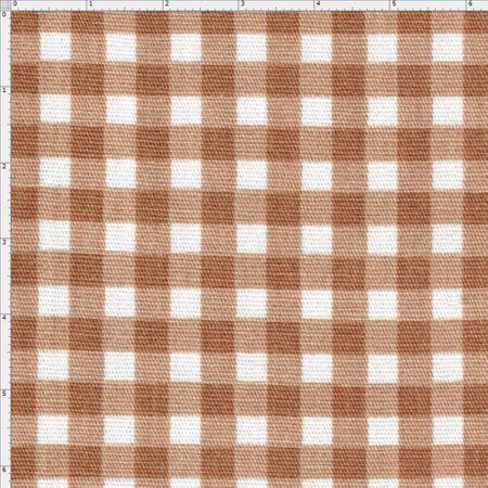 c1faaa424f Tecido Estampado para Patchwork - Sweet Garden: Xadrez Café com Leite (0 ,50x1