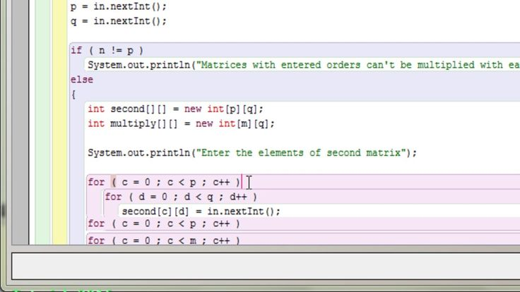Java program to multiply two matrices using 2d array