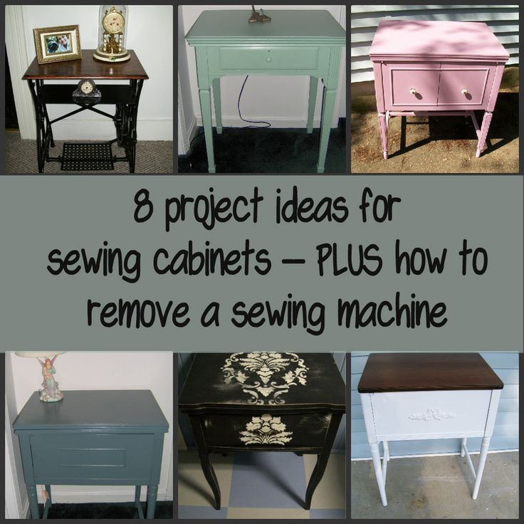 If you're looking for sewing cabinet projects, you've found them. Vintage sewing cabinets make great side tables