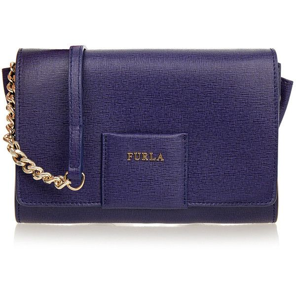 Furla Zizi Navy Clutch ($120) ❤ liked on Polyvore featuring bags, handbags, clutches, navy, leather clutches, blue leather handbag, navy blue purse, blue handbags and blue purse