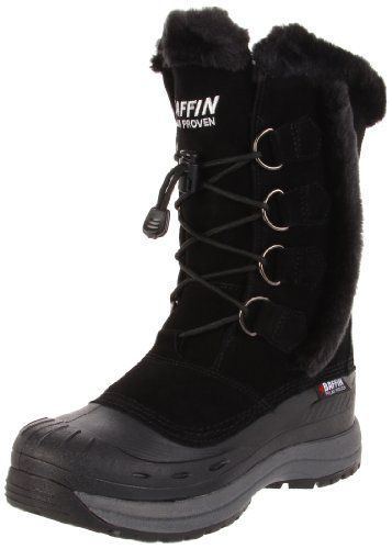 Don't be fooled by its sweet, playful style, because the Baffin Chloe boot is a serious cold-weather performer. Part of the women's-specific Baffin Drift Series, this faux fur-trimmed women's cold-weather boot has a premium, water- and stain-resistant leather upper with a D-ring and elastic-lace closure for a snug fit. Inside, a soft Thermaplush liner and Baffin's signature seven-layer inner boot system keep you warm and toasty,