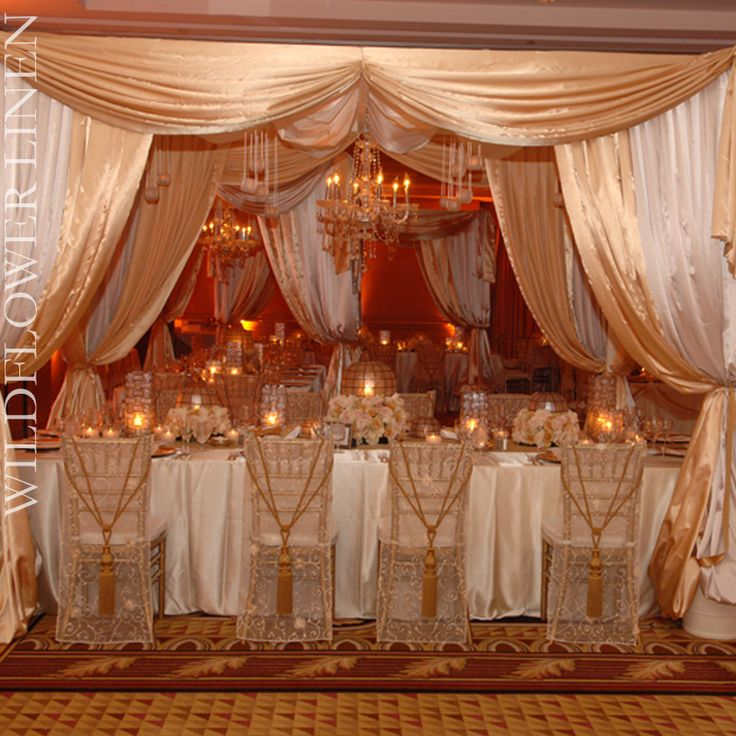 Most Opulent Ivory & Champagne Setting Ever!!!