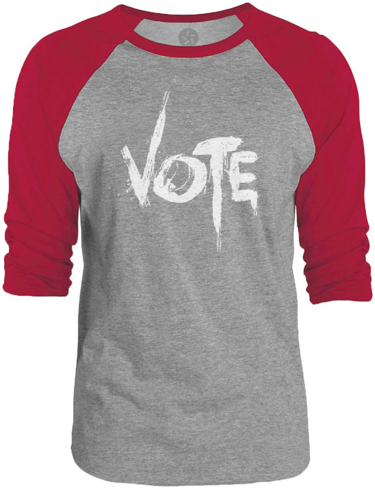 Big texas vote graffiti white 3 4 sleeve raglan baseball for Texas baseball t shirt