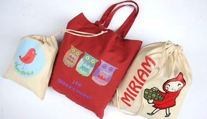 Diseños de bolsas para personalizar.