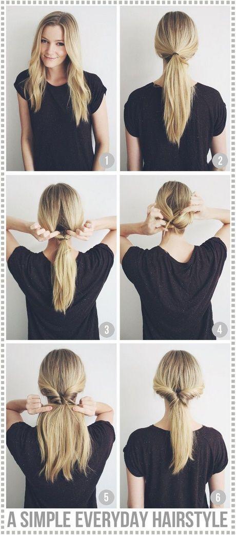 Nette, einfache, alltägliche Frisuren