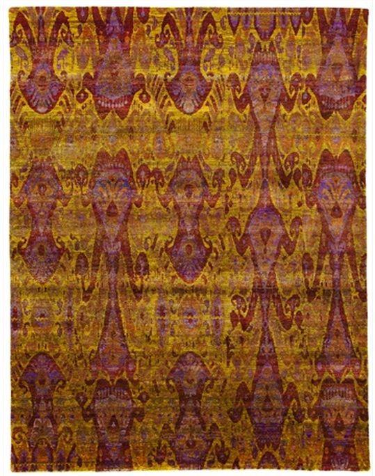 "Size: 8' 00"" x 10' 05"" Construction: Hand Knotted. Material: Silk. Colors: Gold. Collection: MG. Origin: India. Description: Contemporary Sari Silk."