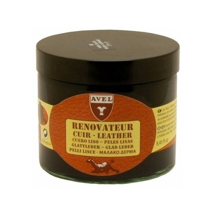 Κρέμα περιποίησης η οποία θρέφει, προστατεύει, επαναχρωματίζει και προσθέτει την χαμένη λάμψη στα λεία δέρματα.Προϊόν κατάλληλο για δερμάτινους καναπέδες, πολυθρόνες, δερμάτινες αποσκευές και ενδύματα. Περιέχει λάδι βιζόν το οποίο ειναι διεισδυτικό, προλαμβάνει το σκάσιμο (γήρανση) του δέρματος και παρατείνει το χρόνο ζωής του.