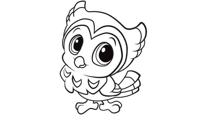 Easy Owl Coloring Pages Owl Coloring Pages Animal Coloring Pages Bird Coloring Pages
