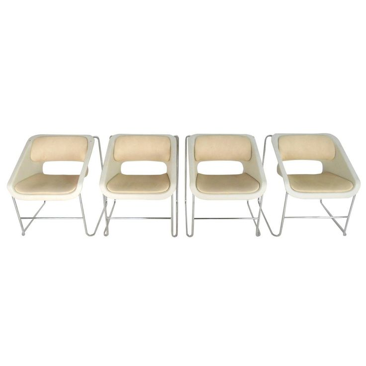 "Set of Mid-Century Modern Artopex ""Lotus"" Chairs by Paul Boulva"