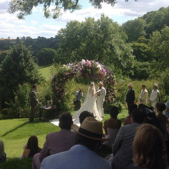"""Pin for Later: Guy Ritchie and Jacqui Ainsley Say """"I Do"""" in a Gorgeous Wedding"""