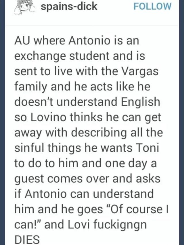 best hetalia images funny stuff hetalia funny omg this goes perfectly the one where antonio thinks lovi can t speak spanish