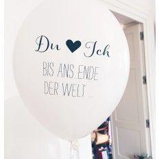 """Hochzeitsballons """"Du & Ich Bis ans Ende der Welt"""" (8 Stück) - weiß"""
