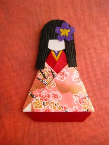 Japanese Origami Doll Hanami <3  #origami #Japanese