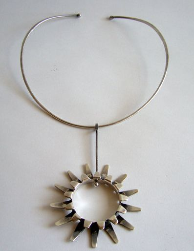 Necklace | Tone Vigeland. Sterling silver.  ca. 1960s, Norway. I would SO wear this today!