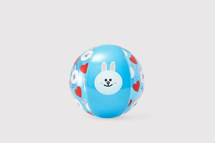 LINE FRIENDS Clear Color CONY Rabbit Recreation Sports Inflatable Beach Ball #LINEPLUS