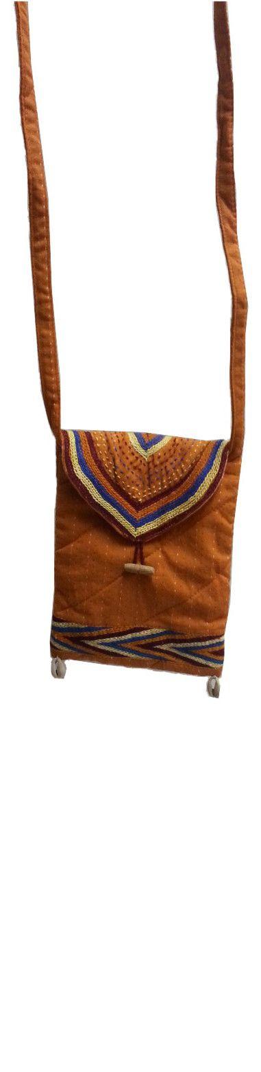 Sabala Handicrafts Fire Orange Shoulder Bag $19.99