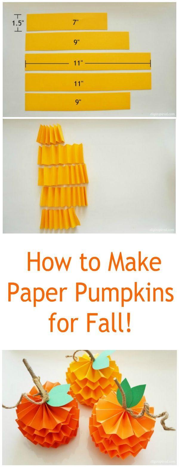 How to make paper pumpkins!
